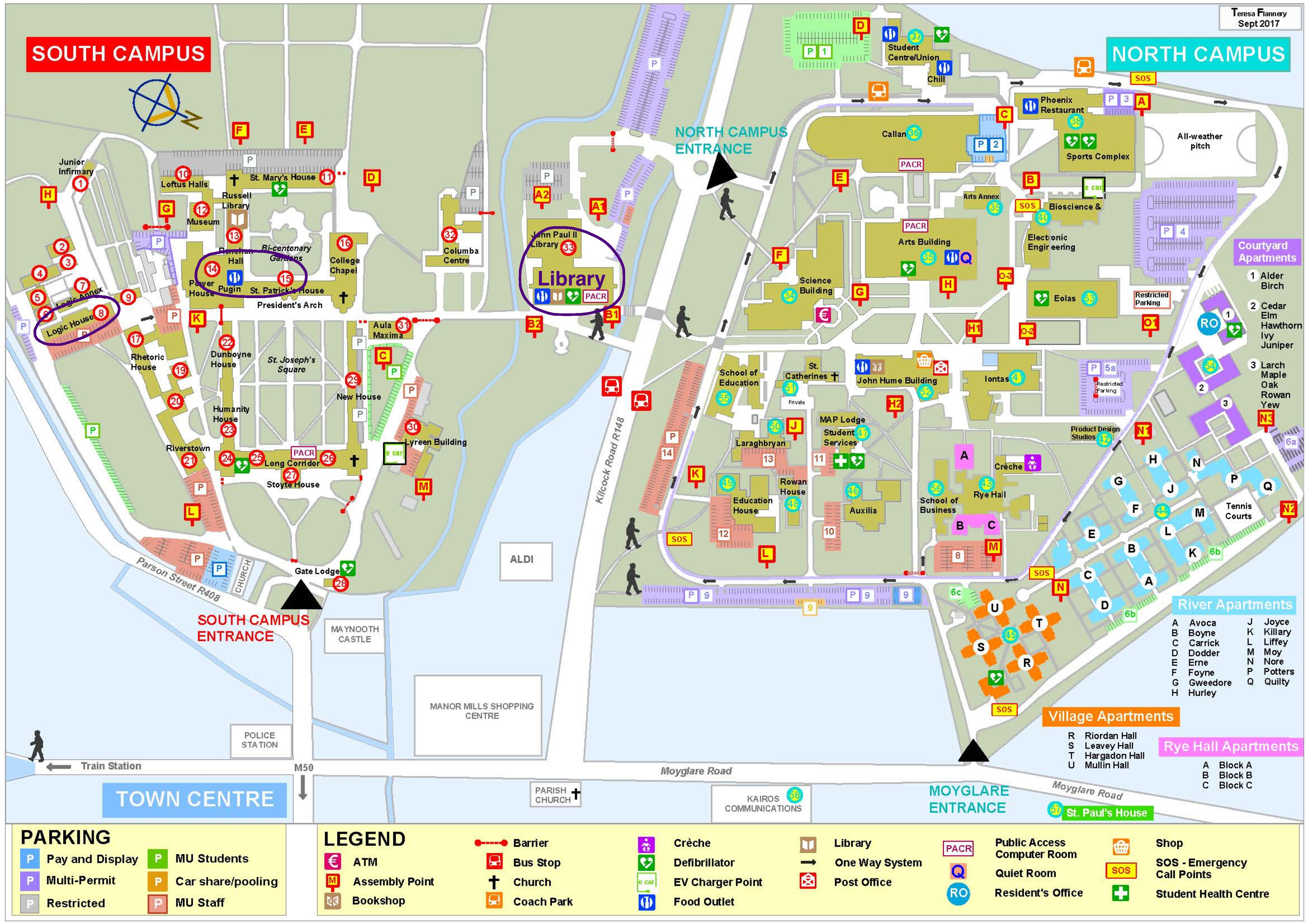 map of maynooth campus Ems Meetings Of Presidents 2018 map of maynooth campus